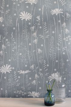 Hannah Nunn: Daisy Meadow in moonrise #blue #duskyblue #meadow