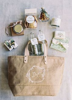 destination wedding welcome bags filled w goodies , for sale in ...