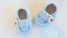 Cute Crochet Baby Loafers
