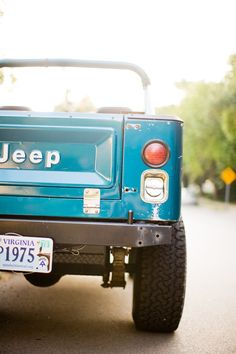 Cool jeep used in recent editorial shoot. Photo by Leslee Mitchell. Print available here: http://society6.com/lesleemitchell/jeep-scrambler-summer_print#1=2