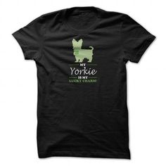 My Yorkie is my Lucky Charm T Shirts, Hoodie. Shopping Online Now ==►…