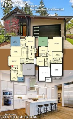 Architectural Designs Modern House Plan 23621JD gives you 4 beds, 4 baths and over 3,600 sq. ft. of heated living space. Ready when you are. Where do YOU want to build? #23621JD #adhouseplans #architecturaldesigns #houseplan #architecture #newhome #newconstruction #newhouse #homedesign #dreamhome #dreamhouse #homeplan #architecture #architect #modern #modernhome