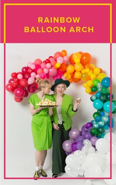 Rainbows are a symbol for a lot of things, but we love the synbolism of hope they represent. Whatever your special occasion, this rainbow balloon arch will bring you and your guest all the joy!  balloon arch, party decor, diy party decor, diy backdrop, party, celebration, party decor, event design, balloons, colorful party decor, birthday party, wedding decor, balloon decor, diy photo backdrop, st patricks day, st patricks day decor, rainbows, rainbow decor Rainbow Balloon Arch, Balloon Arch Diy, Balloon Backdrop, Balloon Columns, Balloon Garland, Diy Backdrop, Rainbow Decorations, Diy Party Decorations, Balloon Decorations
