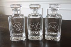 Decanter - Groomsmen Gift, Whiskey Decanter, Personalized Decanter, Father of the Bride Gift, Father of the Groom Gift, Engraved Decanter
