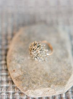 Art deco floral wedding band. Laura Catherine Photography