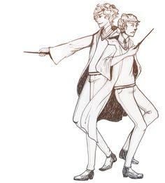 Sherlock and Watson-Potter style!    astrarts: