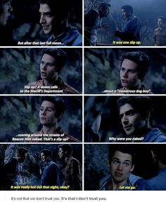"Teen Wolf Season 5 Episode 2 ""Parasomnia"" Stiles Stilinski, Scott McCall and Liam Dunbar. THIS was the most funny scene In Season 5 :'D Teen Wolf Quotes, Teen Wolf Funny, Teen Wolf Memes, Teen Wolf Dylan, Teen Wolf Cast, Dylan O'brien, Stydia, Sterek, Teen Wolf Season 5"