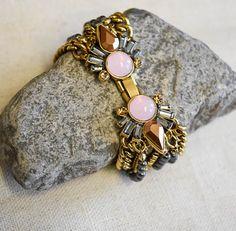 CECELIA BRACELET  Item #PB179  This bracelet has a unique ornamental closure that accents the Dalia necklace perfectly.  7.5″ – 8″ adj.  $26