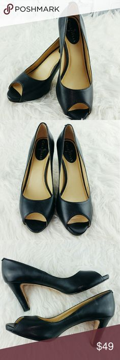 "💞SALE💞 Cole Haan Black Peep Toe Heels Amazing Cole Haan Black Peep Toe 3"" Heels Great Condition Cole Haan Shoes Heels"