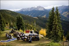 I've seen some pretty spectacular wedding locations here in Colorado but I think the Wedding Deck atop Aspen Mountain may be the most spectacular yet.