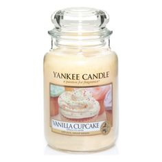 Large-Scented-Candle-Yankee-Candles-Vanilla-Cupcake-Glass-Jar-Perfume-Fragrance