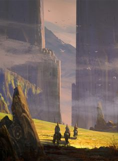 Landscape with Hats by Raphael Lacoste