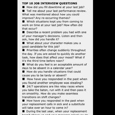 Top ten job interview questions #LUSCCA #Job #Interview