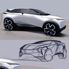 Car Design Sketch, Car Sketch, Crossover Suv, Architecture Logo, Industry Logo, City Car, Cool Sketches, Useful Life Hacks, Transportation Design