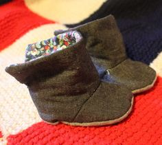 Baby boots pattern & t uto
