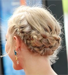 Anna Sophia Robb dons this braided up do perfect to pin for your wedding day hair ideas. See more on Beauty Editor here.