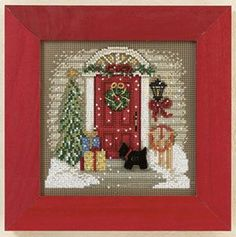 MILL HILL Buttons & Beads Winter Series - Home for Christmas MH14-1301 Counted Cross Stitch Kit