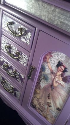 Purple Fairy Ballerina Upcycled Jewelry Box by CrystalsBoxShoppe, $55.00