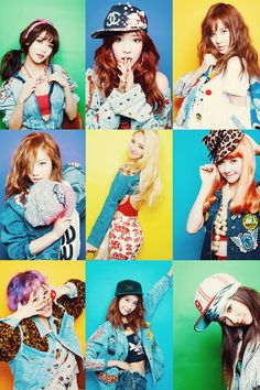 Girls' Generation(SNSD) Probably one of my most favorite dressed girl groups. They're fashion is always diverse and unique, except they all match together in a way.