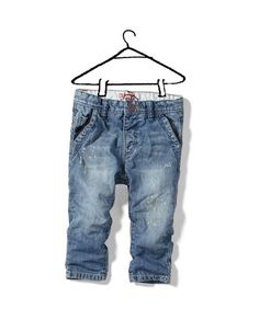 jeans with button tabs