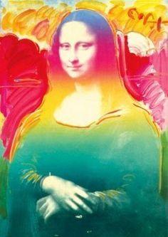Peter Max - Mona Lisa on Blends, 2008