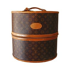 Louis Vuitton Monogram Large Hat or Wig Box by The French Company 1970s  | From a collection of rare vintage luggage and travel bags at https://www.1stdibs.com/fashion/handbags-purses-bags/luggage-travel-bags/