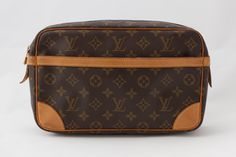 This Louis Vuitton Compiegne 28 in iconic monogram canvas & vachetta leather is the perfect travel companion and the best addition to your Keepall bag! It's for sale on luxsvintage.com