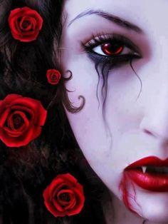 Vampire & rose Diy round full Diamond Painting cross stitch diamond mosaic embroidery canvas home decoration painting Vampire Hair, Vampire Love, Female Vampire, Gothic Vampire, Vampire Girls, Dark Gothic, Vampire Eyes, Dark Fantasy, Fantasy Art