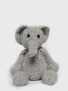 Crochet amigurumi animal toys - elephant