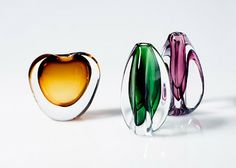 Japanese art glass vases from Kyoto Design House. Just gorgeous!!
