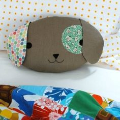 Sew a cute puppy pillow softie in this step-by-step tutorial.