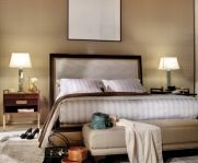 Magnificent jacquard items and unreleased prints dress bed, table, furnitures and walls