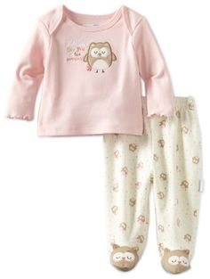 Vitamins Baby Baby-girls Newborn Owl See You 2 Piece Footed Pajama Set, Pink, 9 Months Baby Baby, Cute Baby Girl, Baby Girl Newborn, Baby Love, Cute Babies, Baby Girls, Baby Girl Fashion, Toddler Fashion, Toddler Outfits