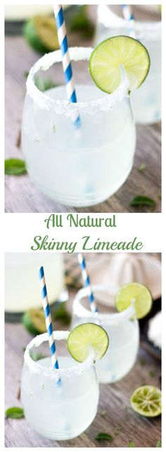 A refreshing and tart spring drink that is loaded with big flavor and almost no calories. This skinny limeade is infused with lime zest and an easy simple syrup.