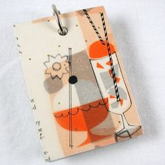 Mini Refillable Recycled Notepad Retro by ragandbonedesign on Etsy, $4.00
