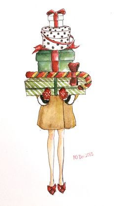 Get ready for CHRISTMAS! Watercolor 1 0 d e c 1 3 IG :Ly.cheung