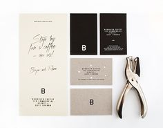 Brand identity and stationery designed by Candy Black for Brooklyn Coffee.