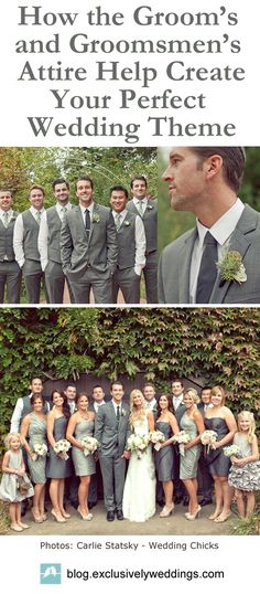 Exclusively Weddings blog - http://blog.exclusivelyweddings.com/2015/06/26/let-the-grooms-and-groomsmens-attire-help-create-your-perfect-wedding-theme/