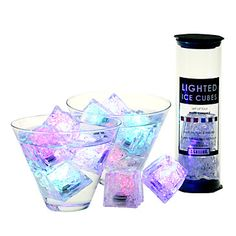 Light Cubes- LED ice cubes taht change colors and last for up to 12 hours. they can be placed in real ice cubes or placed in the freezer