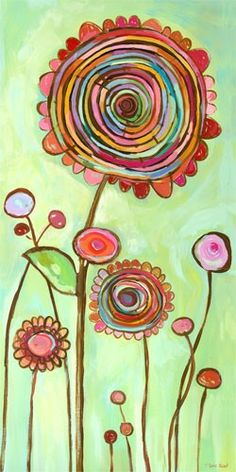 """Brilliant Swirl"" Art by Carter Carpin of 'Oopsy Daisy' - Size"" 18"" x 36"" Giclee Print - ideal for a child's room or any space needing a splash of bright colour! Whimsy & Fun★♡★"