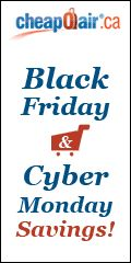 Black Friday and Cyber Monday Savings! Save up to C$15* with Promo Code BFCM2014. Book Now!