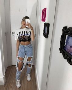 Tomboy Fashion, Fall Fashion Outfits, Girly Outfits, Streetwear Fashion, Trendy Outfits, Vintage Outfits, Cute Travel Outfits, Cute Comfy Outfits, Summer Outfits For Teens