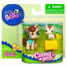LITTLEST PET SHOP CUTEST PETS BABY STEPS WITH MOMMY Mommy Horse and Baby BNIB