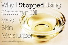 Why I Stopped Using Coconut Oil as a Skin Moisturizer | Every winter without fail, I get terribly dry skin on my face. The day after the we turn on the furnace for the first time in the fall, it starts.... | RedAndHoney.com