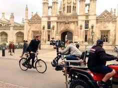 James Norton in Cambridge on the set of Grantchester series 2