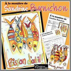 Voici un projet pour le poisson d'avril dans lequel vous découvrirez une artiste français fascinante : Sandrine Burnichon. À travers son art, elle s'est inventé un monde où se côtoient des animaux rigolos et des personnages singuliers. Niveau: - Pour