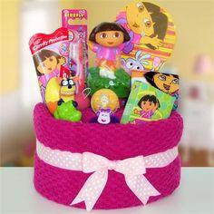 Unique Towel Cakes | Dora The Explorer Towel Cake - A Unique Dora Gift For Kids