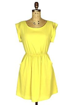 Little Miss Sunshine Dress: Yellow [DR91555-001] - Spotted Moth, Chic and sweet clothing and accessories for women