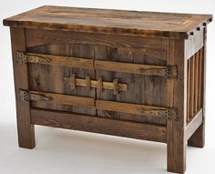 Rustic Barnwood Furniture | Barnwood Furniture, Rustic Furnishings, Log Bed, Cabin Decor, Harvest ...