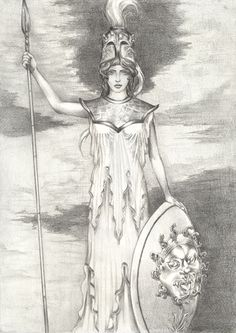 Drawing Facial Expression Goddess Knowledge and Wisdom - Athena - Ashtar Command - Spiritual . Minerva Goddess, Athena Greek Goddess, Greek Mythology Art, Roman Gods, Angel Warrior, Legends And Myths, New Gods, Greek Gods, Gods And Goddesses